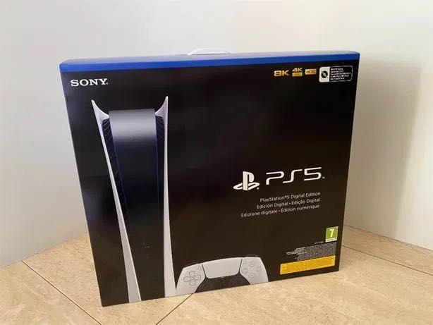 Embalada - Playstation 5 Digital + 2º comando preto ps5 NOVO