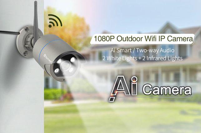 (NOVO] Câmera Vigilância Exterior • WIFI • 3MP • 110º • Visão Noturna