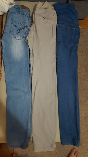 Spodnie ciążowe 40 XL stan bdb okazja