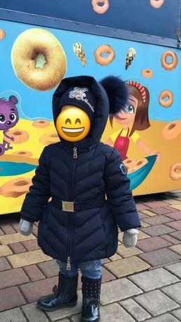 Продаю зимнюю куртку! Фирма Monnalisa. Размер 18 мес( до 2,5 лет).