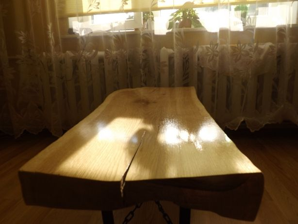 Ławka ławeczka dębowa naturalny kształt