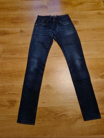 Spodnie jeansowe jeansy dżinsy damskie ciemne