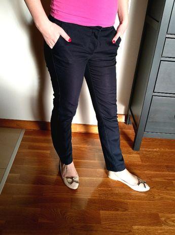 Eleganckie spodnie ZARA, do biura, granatowe
