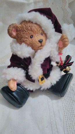 Мишка - Санта. Германия. Статуетка сувенир. Винтаж