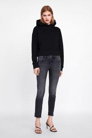 Чёрные, серые джинсы скинни Zara Mid rise (40 р.)