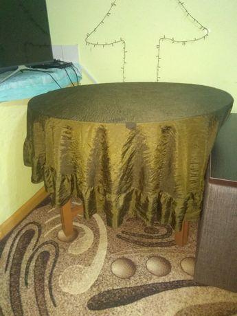 Стол деревянный раскладной, круглый