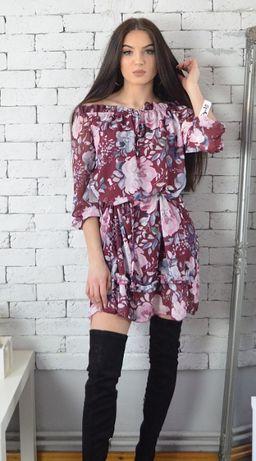 Sukienki szyfonowe różne wzory rozmiar uniwersalny
