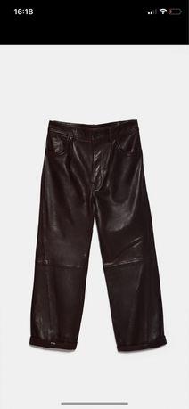 ZARA nowe skórzane spodnie r M
