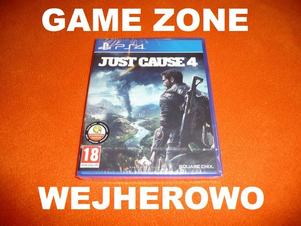 Just Cause 4 PS4 + Slim + Pro = PŁYTA Wejherowo = FOLIA