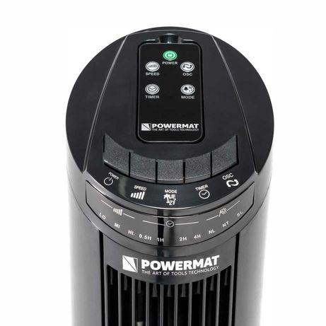 Wentylator kolumnowy Powermat Black Tower-75 70W Bardzo Mocny