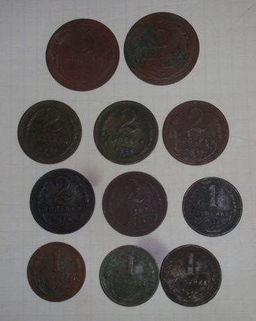 1, 2 , 3 коп 1924г ( 1 шт - 35 грн )