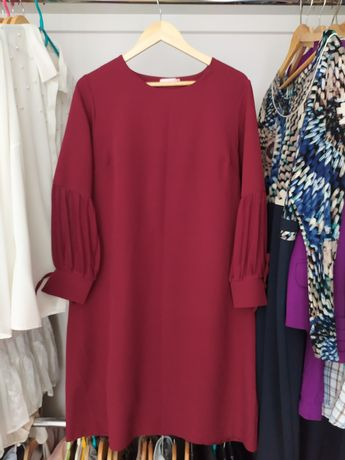 Sukienka jak nowa 46 bordowa elegancka Paula R