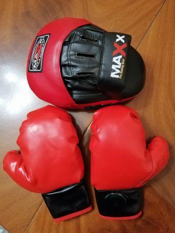 Детские  перчатки для бокса + лапа Maxx