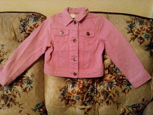 Одежда девичья.Куртка джинсовая розовая.Р110/116.TU.
