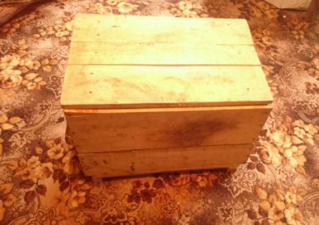 Деревянный ящик с крышкой (480*660*450 мм)