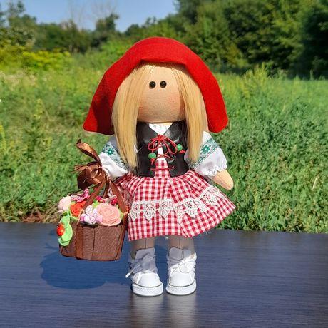 Интерьерная кукла Красная Шапочка ручная работа лялька