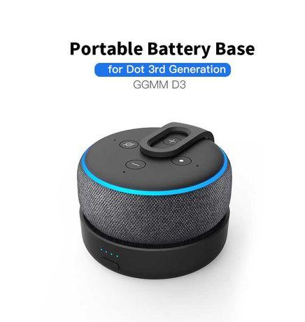 Base Dock Carregador bateria Powerbank Alexa Amazon echo dot 3 NOVO