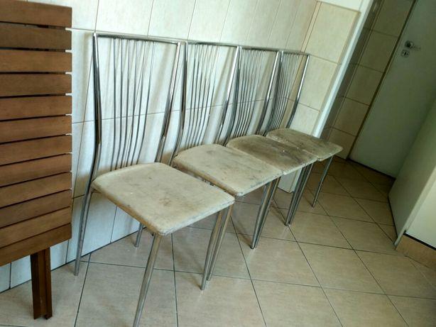 Krzesła 4szt metalowe