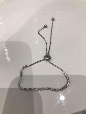 Srebrna świecąca bransoletka