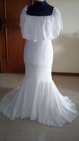 Vestido noiva em renda como novo