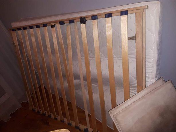 Łóżko+stelaż +materac 140x200cm