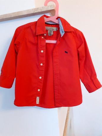 Koszula H&M 92 czerwona