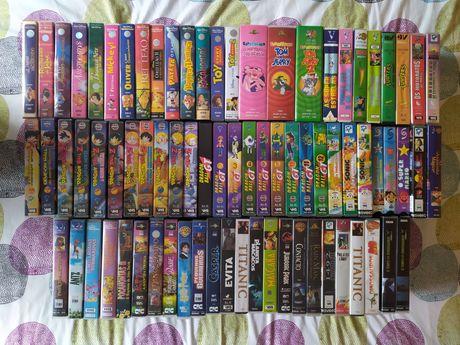 Cassetes VHS clássicas (disney, dragon ball, sonic, mario, moto ratos)