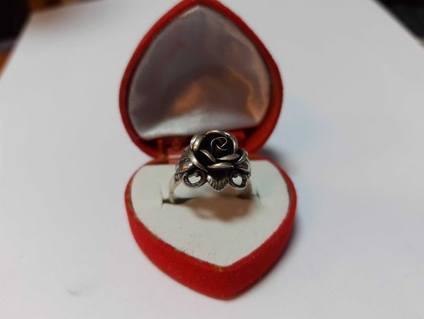 Wspaniały stary pierścionek srebro 925 Teka