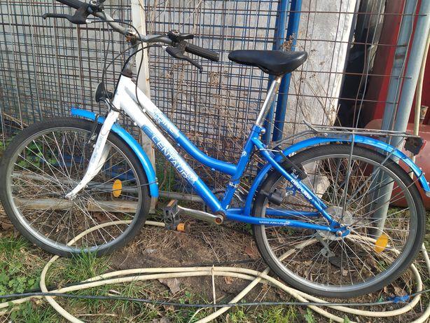 Niebieski biały rower centaur 24