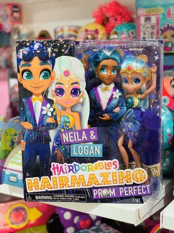 Набор кукол Хэрдораблс Нейла и Логан Hairdorables Hairmazing