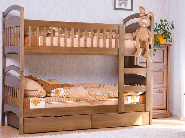 Двухъярусная кровать усиленная +ящики +матрасы. От производителя