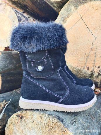 Зимние замшевые ботинки 15.5 см