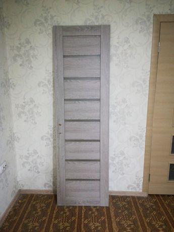 Дверное полотно 60см Леона дуб.дымчатый