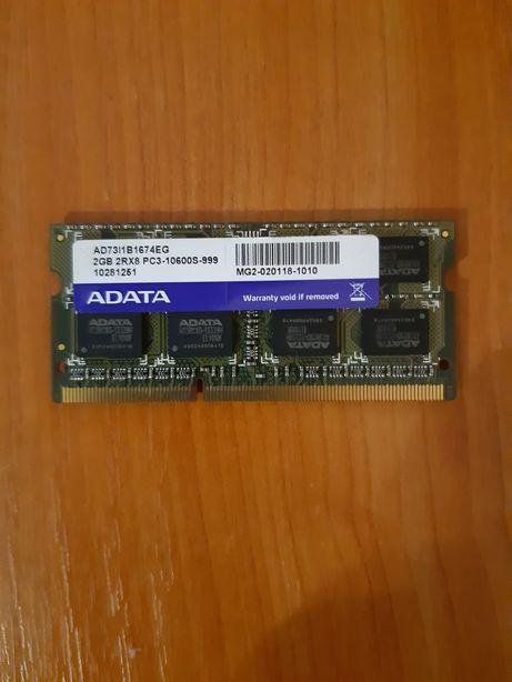 RAM SO-DIMM DDR3 1333 ADATA 2×2Gb (AD73l1B167EG) Asus, HP,Compaq,SONY