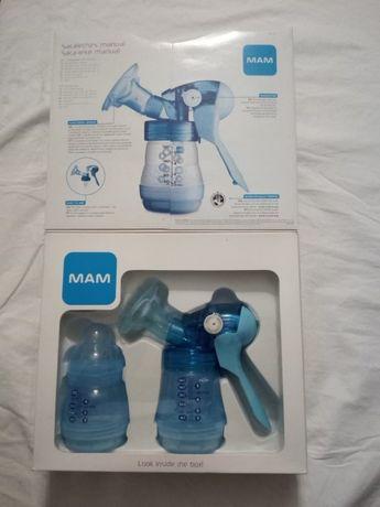 Extractor de leite materno selado MAM com 2 biberãos incluídos