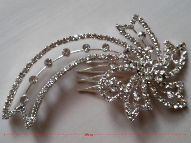 2 grzebyki (komplet), stroik, spinka - ozdoba ślubna