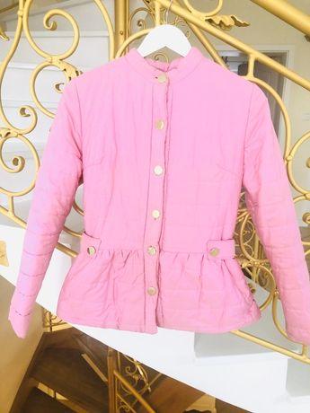 Kurtka różowa pikowana s xs zlote guziki wiosna hit j franchi Loveya