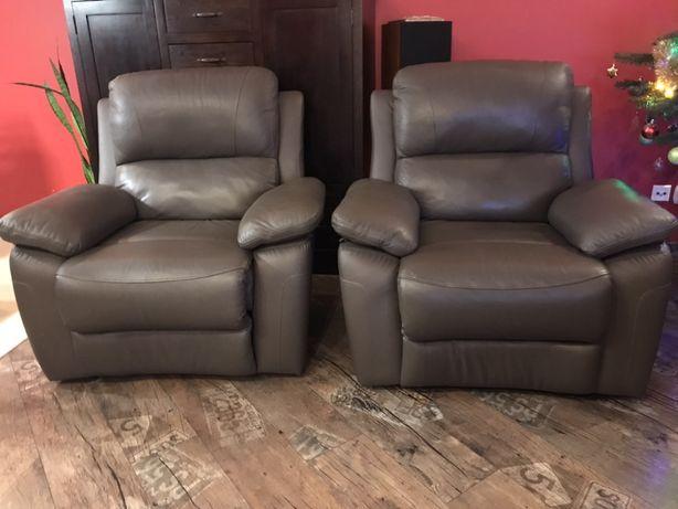 Wypoczynek skórzany kanapa sofa 2 fotele plus transport