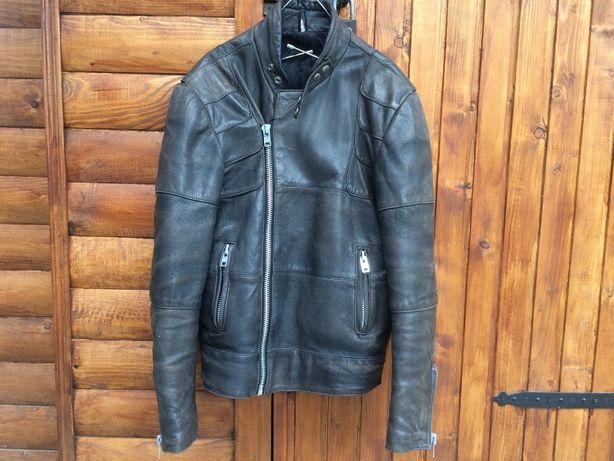 Шкіряна мото куртка розмір 52 old school.