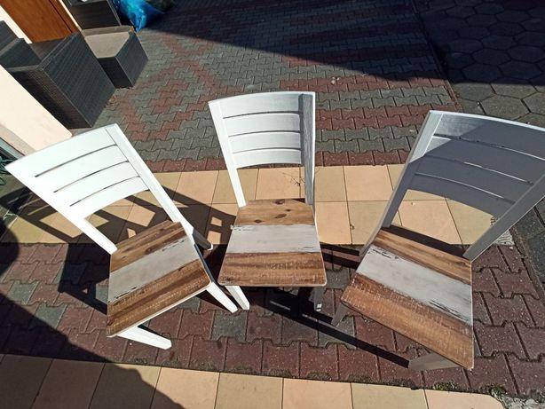 Krzesła masywne nowe
