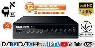 Комбо Ресивер Т2 World Vision T62A,LAN,WIFI,USB,DVB-T2,C,IPTV Доставка