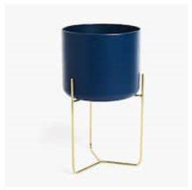 ZarHome Suporte para plantas azul base dourada