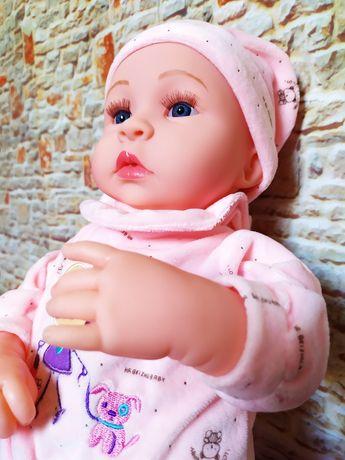 Новая детская кукла Реборн 45 см говорящая силиконовая