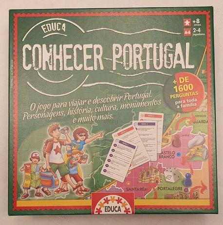 Jogo de tabuleiro Conhecer Portugal