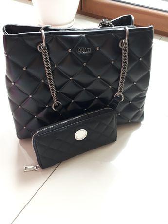 Piękna pikowana torebka plus portfel