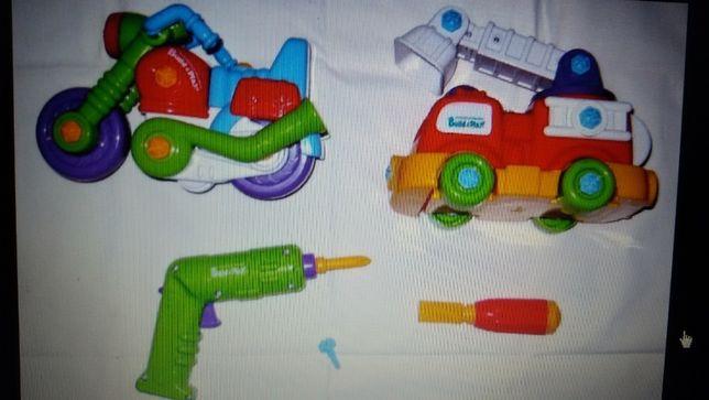 Конструктор Build & Play, машина и мотоцикл.