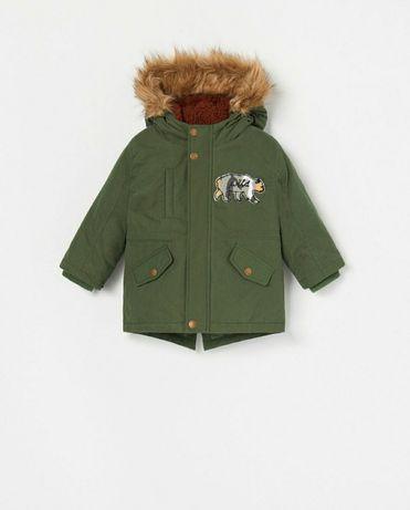 Parka zimowa chłopięca kurtka Reserved 86