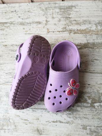 Тапки, кроксы, крокси для девочки 24-25 размер