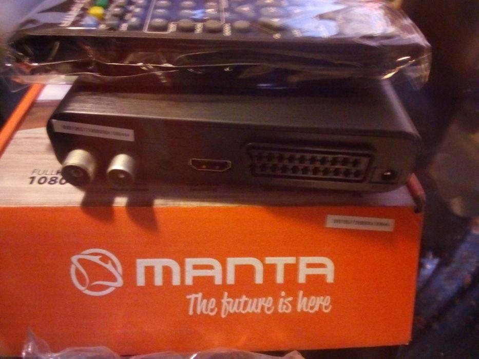 Dekoder telewizji cyfrowej DVB-t Manta pilot zafoliowany z wysylka HD Gdańsk - image 1