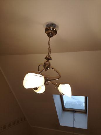 Lampa żyrandol srebrna